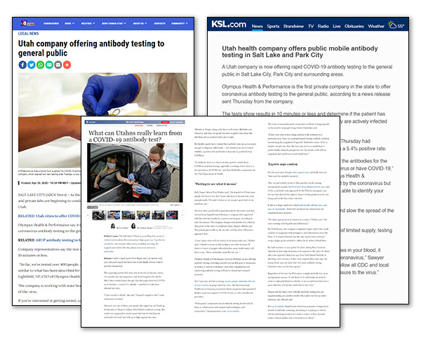 Olympus Health & Performance News Coverage